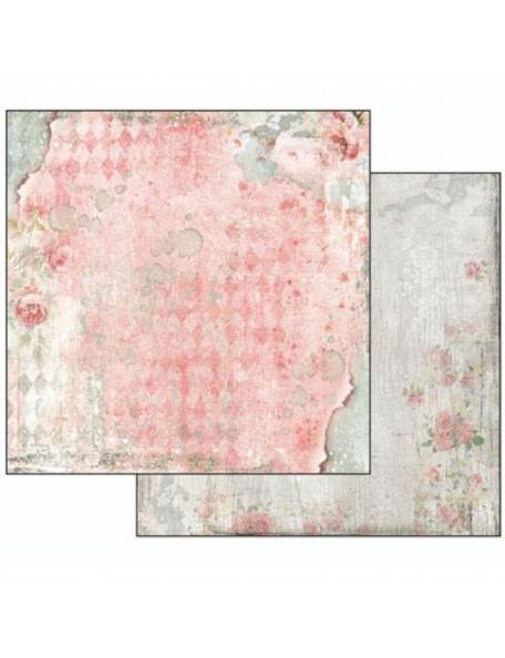 Stamperia Dream, Dream Texture With Rose SBB497