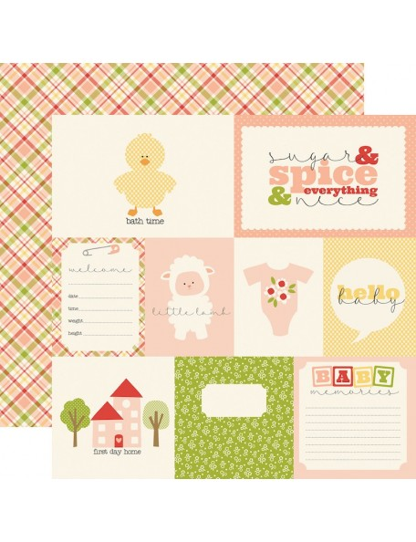Carta Bella It's A Girl,  Journaling Cards
