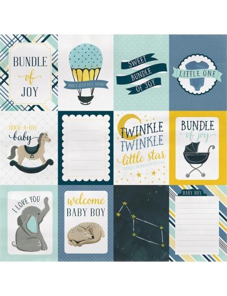 "Carta Bella Rock-A-Bye Baby Boy, 3""X4"" Journaling Cards"