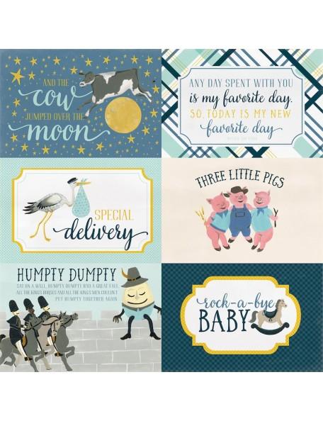 Carta Bella Rock-A-Bye Baby Boy, 4x6 Journaling Cards