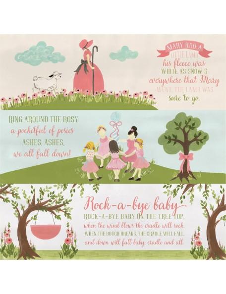 Carta Bella Rock-A-Bye Baby Girl, Girl Nursery Rhymes