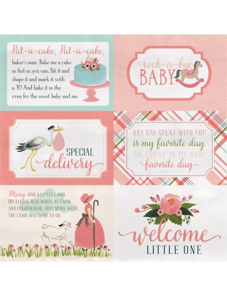 "Carta Bella Rock-A-Bye Baby Girl, 4""X6"" Journaling Cards"