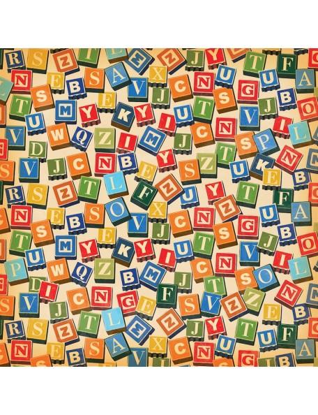 """Carta Bella Toy Box, 4""""X6"""" ABC Blocks"""