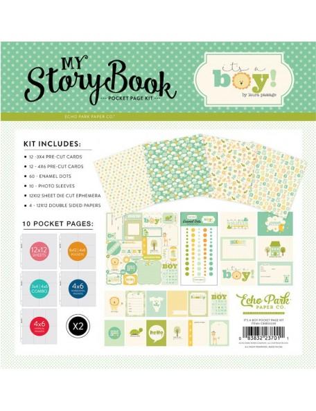 Carta Bella My Story Book Pocket Page Kit, It's a Boy