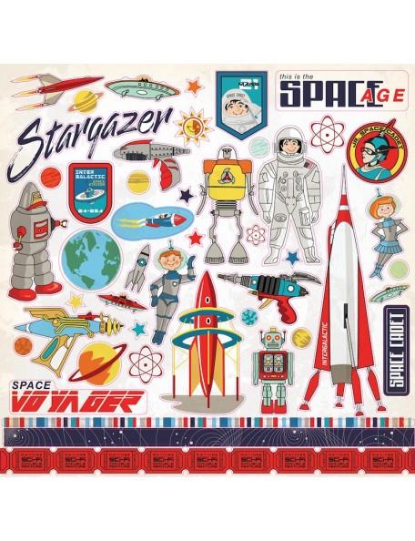 Carta Bella Space Academy Sticker Sheet