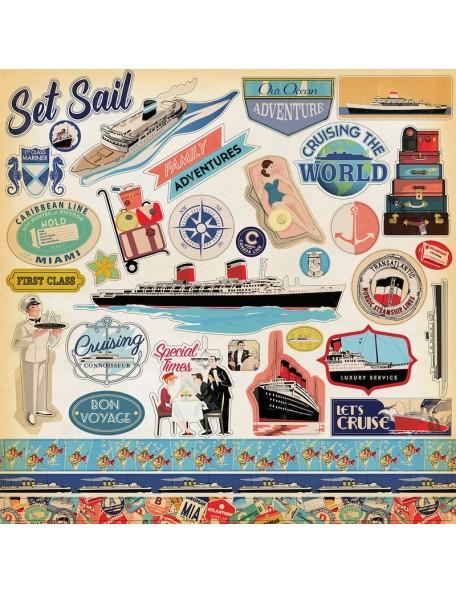 Carta Bella Let's Cruise Sticker Sheet