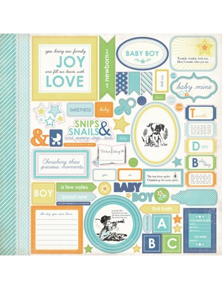 Carta Bella Baby Mine Boy Sticker Sheet