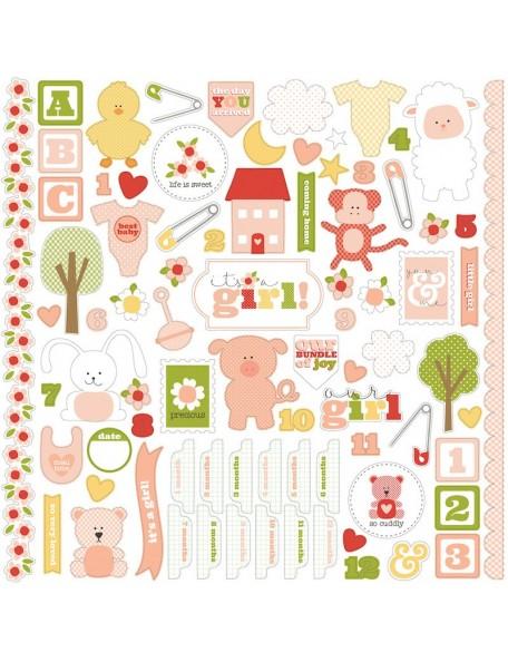 Carta Bella It's a Girl Sticker Sheet