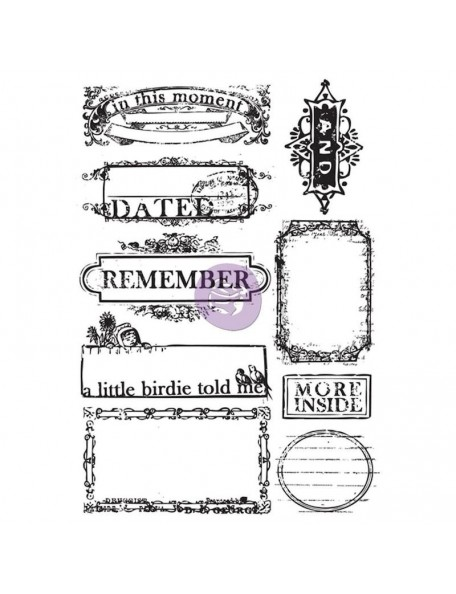 "Prima Marketing Something Blue Cling Rubber Stamps 4""X6"" No.1 Dated, Remember"