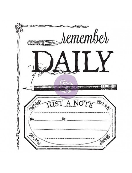 """Prima Marketing Stationer's Desk Clear Stamps 2.5""""X3"""" No. 1 Daily"""