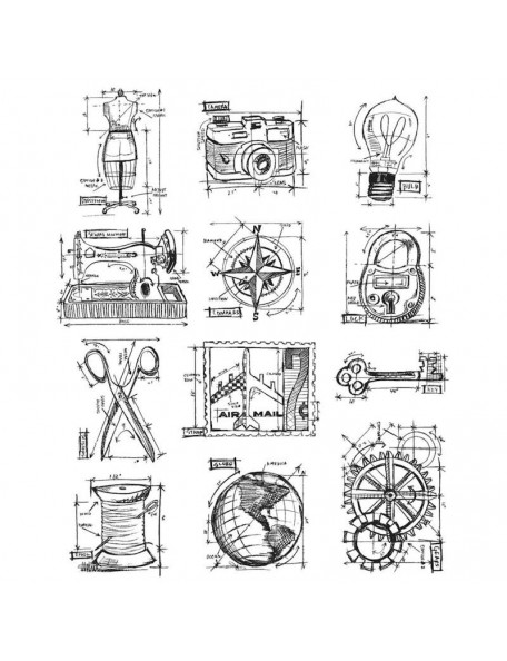 Tim Holtz Stampers Anonymous Mini Blueprints No. 3