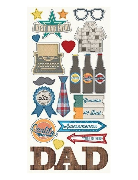 """Simple Stories Sets Dad Cardstock Stickers 6""""X12"""" Fundamentals"""