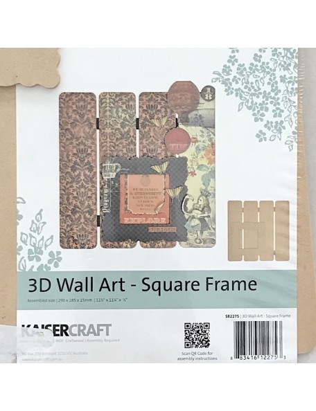 Kaisercraft 3D Wall Art, Square Frame