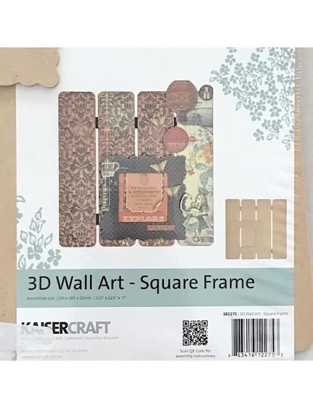 Kaisercraft 3D Wall Art, Square Frame