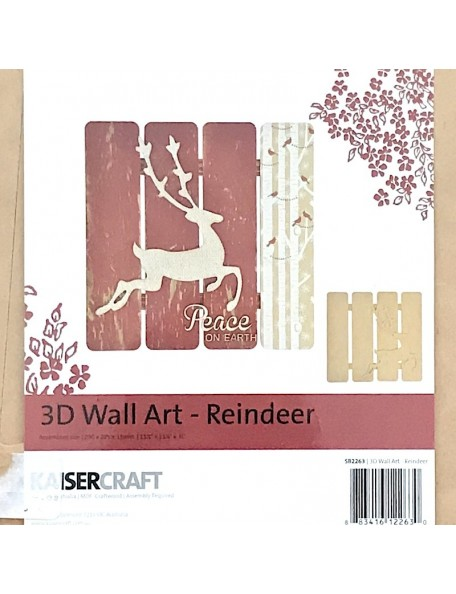 Kaisercraft 3D Wall Art, Reindeer