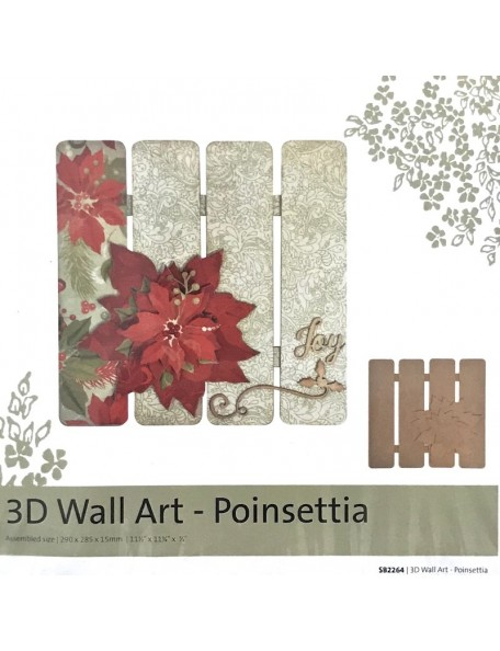Kaisercraft 3D Wall Art, Poinsettia