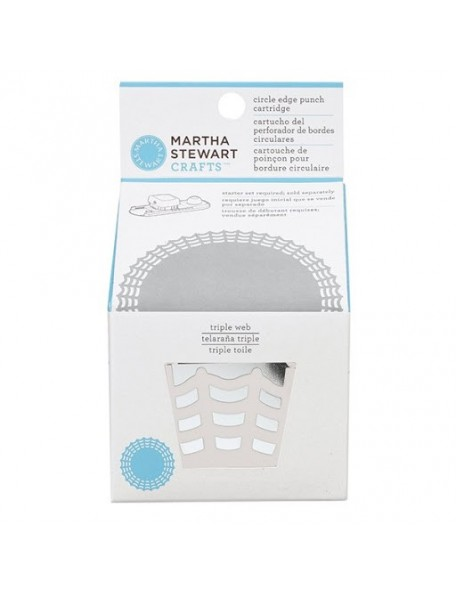 Martha Stewart Circle Border Cartridge, Triple Web