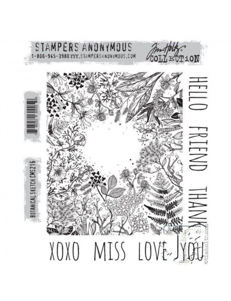 Tim Holtz Stamper Anonymous Botanical Sketch