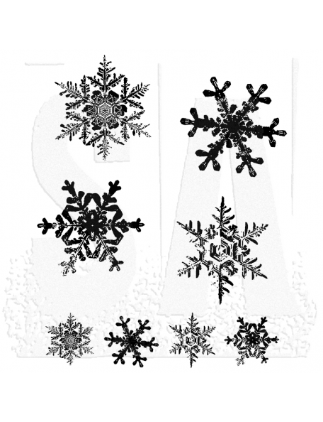 "Tim Holtz Stampers Anonymous Grunge Flakes Sello de Caucho 7""X8.5"""