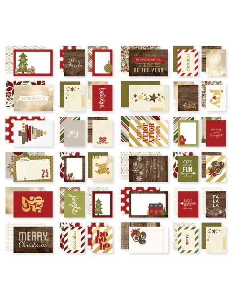 "Simple Stories Cozy Christmas Sn@p! Cards 4""X6"""