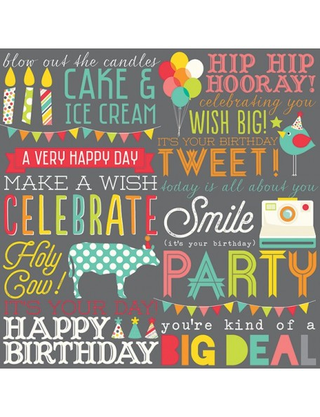 Simple Stories Let's Party, Hip Hip Hooray!!