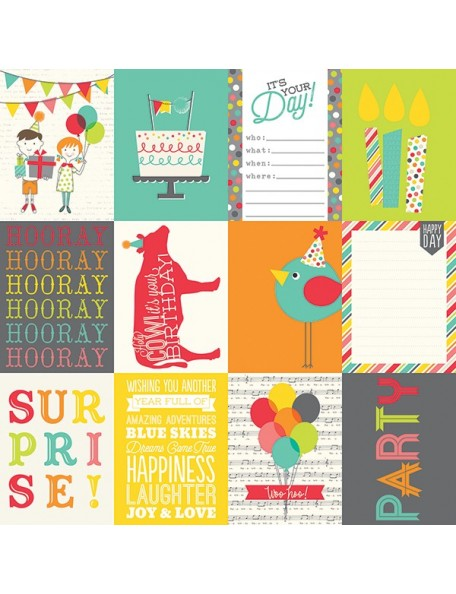 Simple Stories Let's Party, 3x4 Journaling Card Elements
