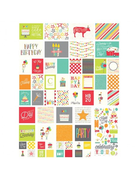 Simple Stories Let's Party Sn@P! Card Pack 126