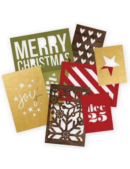 "Simple Stories Cozy Christmas Sn@p! Cuts 8 (4) 4""X6"" & (4) 3""X4"""