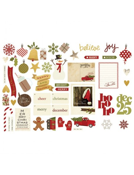 Simple Stories Cozy Christmas Bits & Pieces Die-Cuts