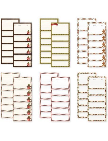 """Simple Stories Cozy Christmas Sn@p! Recipe Cards 4""""X6"""" 36"""