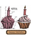 Tim Holtz Sizzix Framelits, Birthday Blueprint