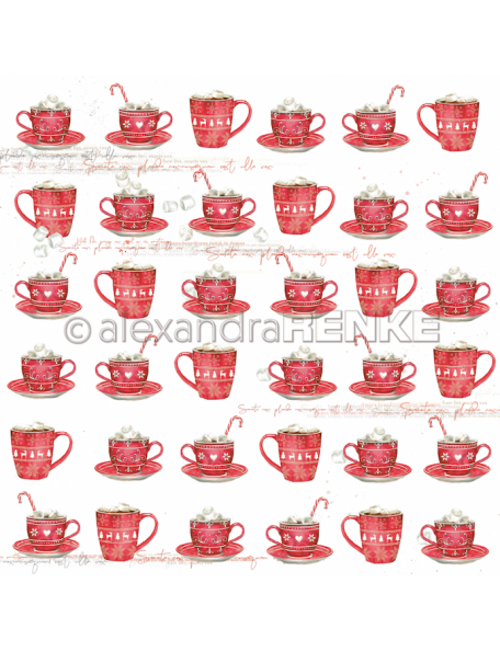 Alexandra Renke Cardstock de una cara 30,5x30,5 cm, Rote Tassen Rapport