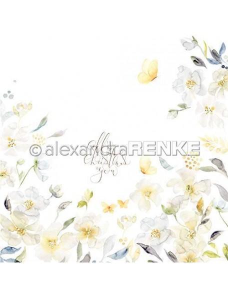 Alexandra Renke Cardstock de una cara 30,5x30,5 cm, Rosa Weihnachtssternkranz