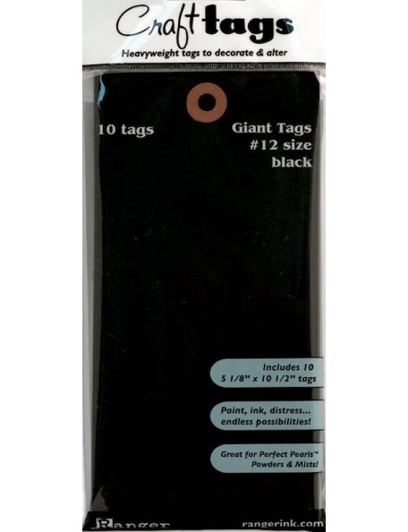 Ranger Inkssentials Giant Black Craft Tags