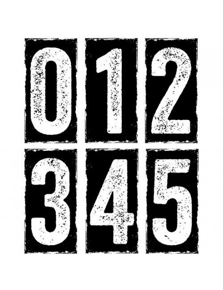 """Tim Holtz Stampers Anonymous Big Numbers 7""""x8.5"""""""