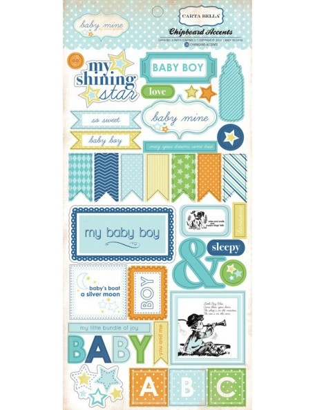 Carta Bella Baby Mine Boy Decoraciones