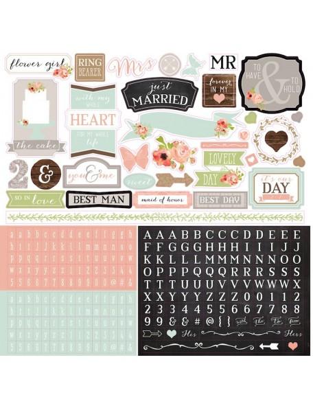 "Carta Bella Rustic Elegance Cardstock Stickers 12""X12"" Elements"