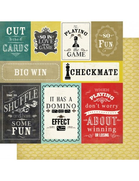 Carta Bella Well Played, Journaling Cards