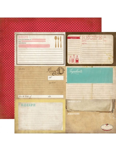 Carta Bella Homemade With Love, Recipe Cards
