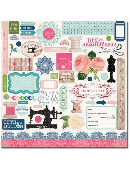 Carta Bella Sew Lovely Element Stickers