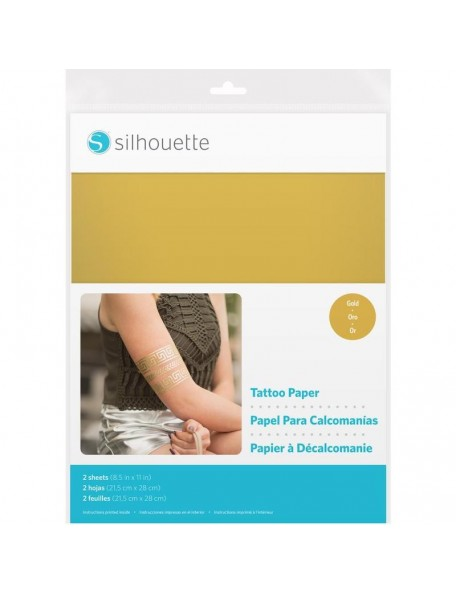"Silhouette 8.5""X11"" Temporary Tattoo Paper Gold"