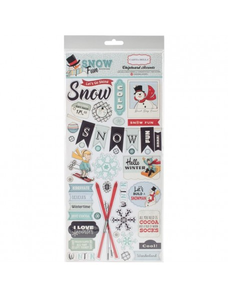 Carta Bella Snow Fun Chipboard Accents
