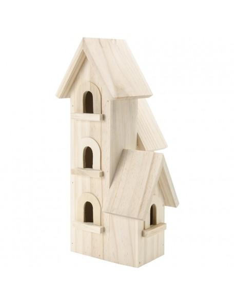 """darice casita de madera/Natural Wood Manhattan Birdhouse 12""""X5.5""""X5.5"""""""