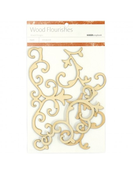 Kaisercraft Decoraciones en madera/Fancy Wood Flourishes