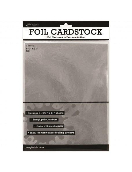 "Ranger Inkssentials Foil Cardstock 3, Plata/Silver 8.5""X11"""