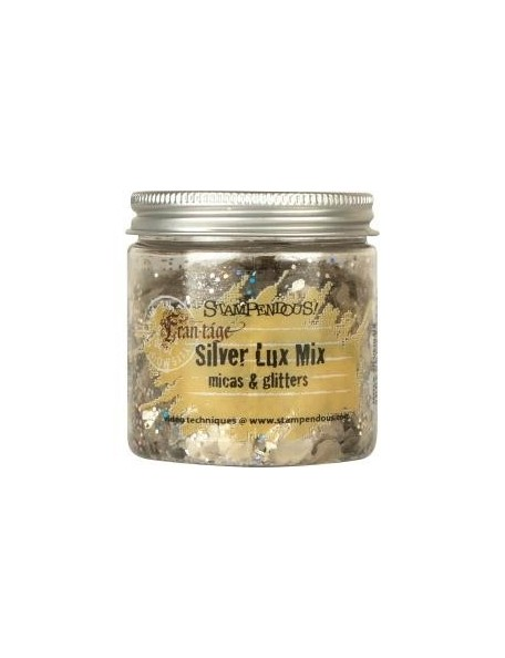 Stampendous Frantage Micas & Glitters Lux Mix 1.5oz W/Tab, Silver