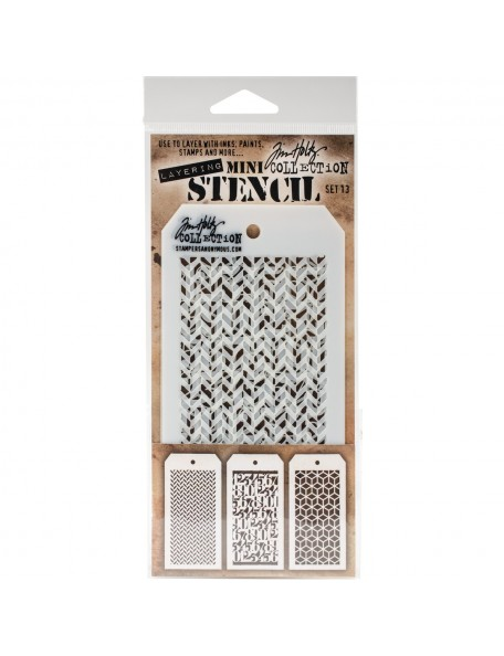 Tim Holtz Mini Layered Stencil Set 3 Set 13