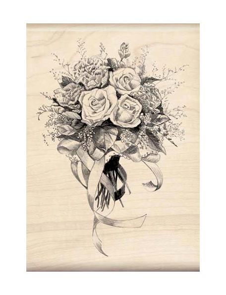 Inkadinkado - Valentine's Day Special Bouquet Sello de Madera