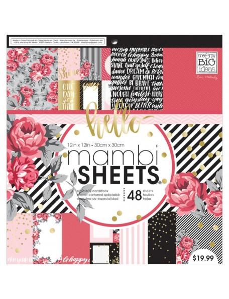 "Me&My Big Ideas - Mambi - Life in Rosy - Bloc 12""x12"" Cardstock de una cara"