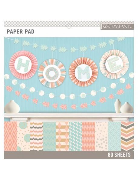 """K&Company - Basics Pastels - Bloc 12""""x12"""" de una cara"""